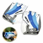 Blue Cycling Bike Bicycle Motorcycle Half Finger Gloves Silicone Comfortable NEW