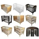 NEW BABY CHILD CLASSIC WOOD COT BED & ECO FOAM COTBED MATTRESS NURSERY FURNITURE