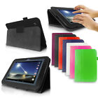 "LUXFOLIO STAND LEATHER CASE WALLET FOR TESCO HUDL1 HUDL 1 7"" TABLET FREE STYLUS"