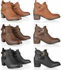 WOMENS LADIES ANKLE GUSSET BUCKLE PULL ON CROC CHELSEA LOW HEEL BOOTS SHOES SIZE