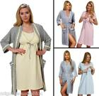 Maternity Pregnancy Set Nightdress and Dressing Gown 3/4 Sleeves 8 10 12 14 16