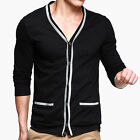 2013 Casual T-Shirt Long Sleeve Sexy Men's V-neck Cotton Cardigan Slim Fit XS~L