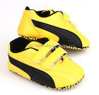Baby Boy Yellow & Black Soft Sole Shoes Toddler Sneaker Size Newborn to 18 Month