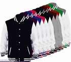 Mens Boys Unisex Varsity Letterman University College Baseball Jacket Ages 3-99