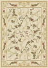 CREAM IVORY PLUM GREEN FLORAL AREA RUG TRADITIONAL BORDERED ORIENTAL CARPET