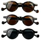 Womens Unisex Classical Vintage Style Small Round frame Sunglasses Leopard ItS7