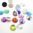 NEW 50PCS 12MM crystal Round Flat back Scrapbooking for DIY craft/Wedding Art AB