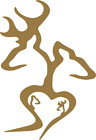 "Set of 2 - Browning Double Deer Family Hunting Vinyl Decal Sticker 10"" X 6.8"""