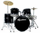 ROCKBURN FULL SIZE DRUM KIT 5 PIECE - CRASH CYMBOL -INLCUDES FREE STOOL & STICKS