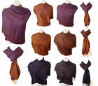 LADIES WINTER PURE 100% CASHMERE PASHMINA WRAP AROUND TOP WOMENS SHAWL ONE SIZE
