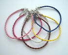 Plaited Leather Friendship Bracelet / Anklet ~ Various Colours
