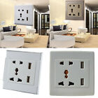 Multi Styles Home Wall Socket Dual USB AC Outlet Electrical Plugs Brand New 1PC
