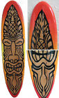 Decorative Wooden Surfboard Wall Art The Warrior Tiki God - 3 Sizes Available