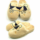 WOMENS LADIES FLAT SLIP ON MULE SOFT COMFORT NOVELTY  SLIPPERS SIZE