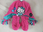 Hello Kitty Fluffy Hat & Mitten Set Pink 1-3 or 4-6 yrs New