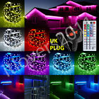 5050 5M RGB SMD LED Strip Light+Power Supply Adapter+44Key IR Remote-Controller