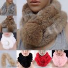 New Fahion Women Rabbit Fur Collar Neck Wrap Lidy Winter Warm Scarf Shawl Stole