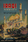 IRAQI Airways vintage retro print poster, large 4 sizes available, Airline 29