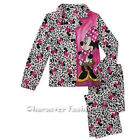 MINNIE MOUSE 4 5 6 6X 7 8 10 12 Girls PAJAMAS PJS Shirt Pants FLANNEL