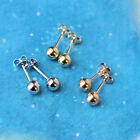 14k Yellow, Rose or White Gold Ball Stud Earrings - 2,3,4,5,6,7,8,9,10,12,14mm