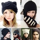 Women Men Boy Mask Crochet Knit Black Ski Beanie Wool Roman Knight Hat Cap