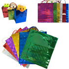 Party Gift Bag Assorted Size Holographic Colour X'Mas Gift Present Paper Bags