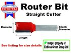 Faithfull ROUTER BIT 1/4 in shank - wood working tool - Choice of cutter type