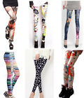 Fashion Women's Stretchy Tights Pencil Skinny Sexy Punk Funky Pants Newest