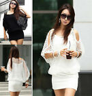 Fashion Womens Hollow Sexy Dress Ladies Summer Casual Party Mini Dress 2 Sizes