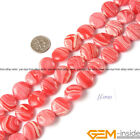 Coin Manmade Rhodonite beads Jewelry Making loose gemstone beads strand 15""