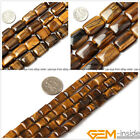 Natural Rectangle Tiger eye Beads Jewelry Making gemstone Loose beads strand 15""