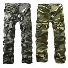 New Men's Cotton Casual Military Army Cargo Camo Combat Work Pants Trousers