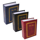 "SLIP IN HARDBACK PHOTO ALBUM STORAGE BOOK FILE GOLD TRIM 4"" X 6"" 200 CAPACITY"