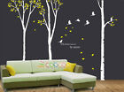 """Wall Decor Decal Sticker Removable large 117"""" High birch tree"""