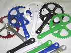 Bike Bicycle Road Single Speed Fixed Gear Fixie Alloy Crank Set Chain set 46T