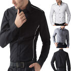 Cheap! NWT PJ Mens Luxury patched Casual Slim Fit long sleeve Dress Shirts tops