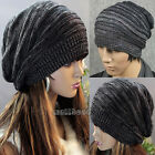 New Fashion Womens Mens Unisex Knit Baggy Beanie Beret Hat Winter Warm Ski Cap