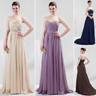 Beauty Chiffon Wedding Gown Bridesmaids Bridal Evening Prom Party Maxi Dress