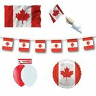 CANADA (Canadian) FLAGS BANNERS BALLOONS(Partyware/Decorations){fixed £1 p&p}