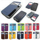 New Anti-shock/View pu-leather Flip cover case For Galaxy Note 2/3  DROP TESTED