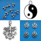 Mixed Tibetan Silver Pendant Charms Pagan Wicca Gothic Wiccan Pentagram Acorn