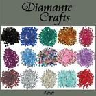 300 4mm Round Diamante Loose Flat Back Craft  Gems Choose from 18 Colours