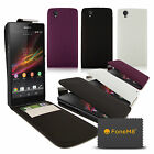 NEW SLIMLINE LEATHER FLIP CASE COVER FOR SONY XPERIA Z