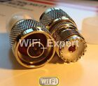 1 x UHF Male PL-259 Female SO-239 To N Male Female COAX RF Connector Adapter USA