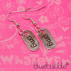 FUNKY TEXT TALK EARRINGS CUTE FUN NOVELTY RETRO STYLE GIFT MOBILE KITSCH COOL UK