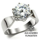 Women's Ring Simulated Diamond Zc Stainless Steel Designed Engagement - TK046