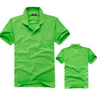 New Hot Men's Stand-up Collar Solid T-shirt Short Sleeve Polo Plain Shirt U007