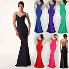 New Long Mermaid Bridesmaid Evening Formal Party Ball Gown Prom Wedding Dresses