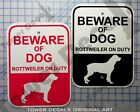 Beware of Dog - Rottweiler 9 x 12 Predrilled Aluminum Window or Fence Sign