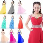 Sweetheart Chiffon Cap Sleeve Formal Prom Dress Party Bridesmaid Evening Gowns